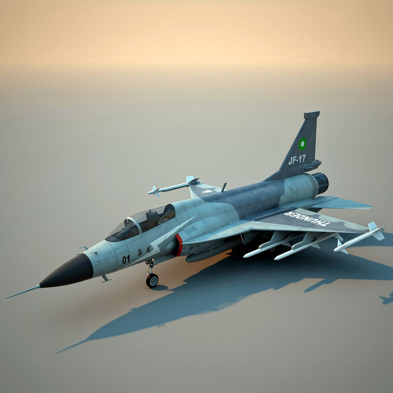 3dsmax realistic jf-17 thunder fighter