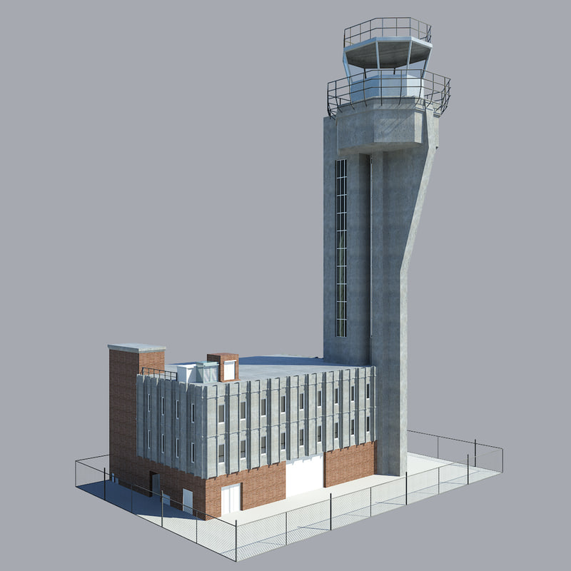 airport control tower 3d obj