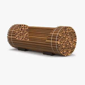 bamboo bench 3d model