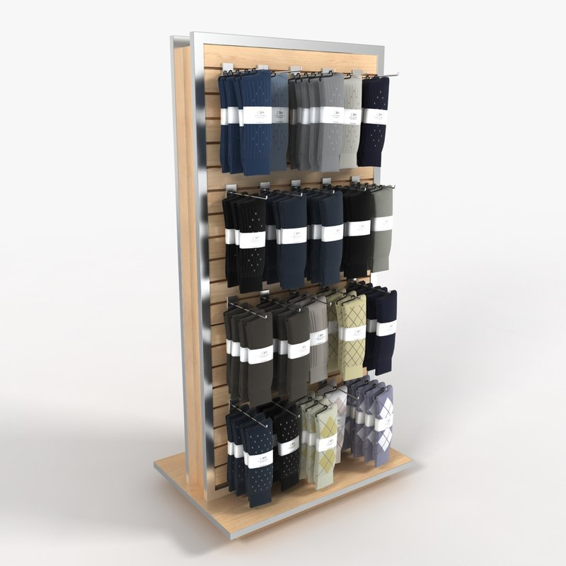 3d men s sock rack