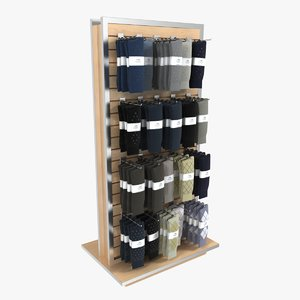 3d men s sock rack