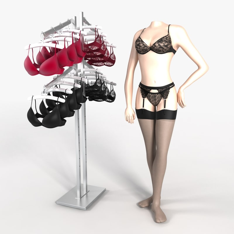 bra display 3d model