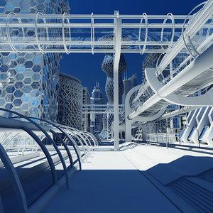 max future architectural futuristic