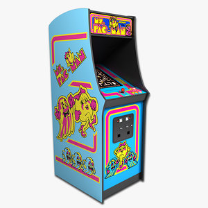 3d ms pac-man arcade