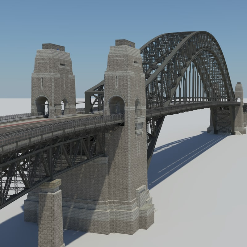 sydney harbour bridge 3d model