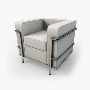 c4d kmp corbu arm chair