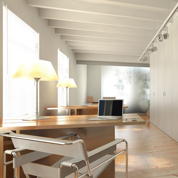 Small Office Interior 3d Model