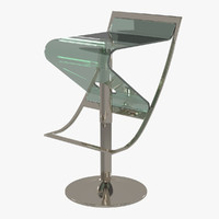 modern bar stool - 3d model