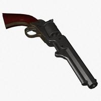 colt 1849 revolver 3d model