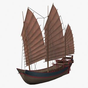 chinese junk 3d model