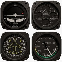 Four (4) Aircraft Instruments Set #3