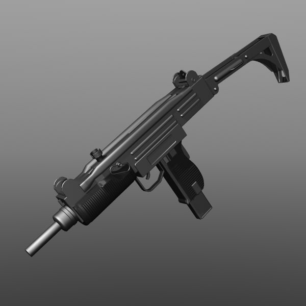 3d model uzi sub-machine gun
