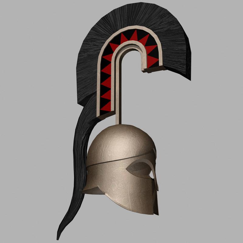 greek helmet 3ds