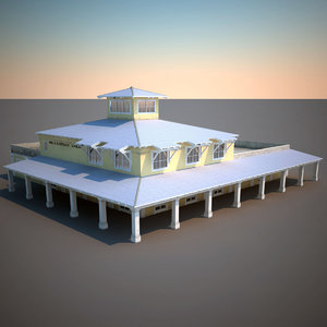realistic police dept station 3d max