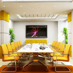 3d model office boardroom interior