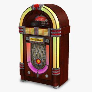 3d obj jukebox wurlitzer