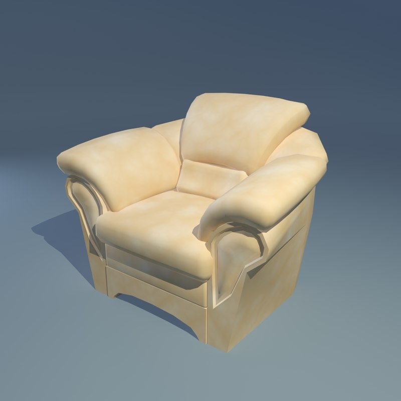armchair interior 3d x