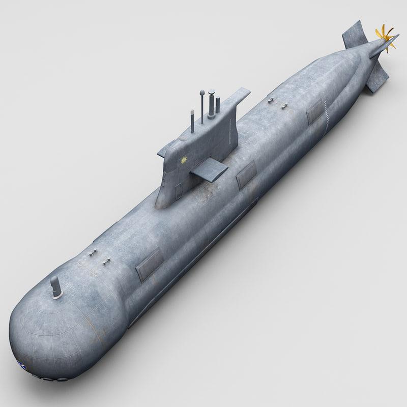 collins class submarine 3d lwo