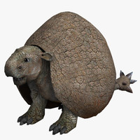 doedicurus prehistoric 3d obj