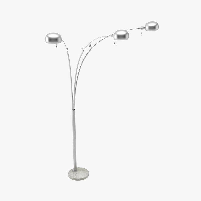 3d standing floor lamp model