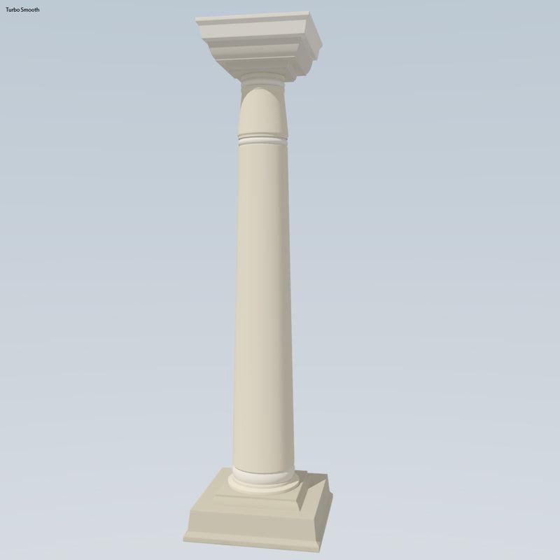 3d model antiquity pillar