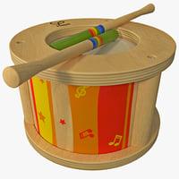 3d model toy drum