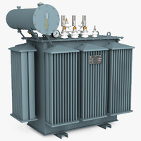 oil-immersed power transformer 3d model