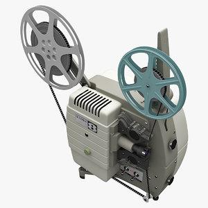3d model vintage projector sekonic 30c