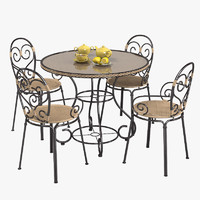 3d outdoor garden furniture set model - Garden Furniture 3d Model