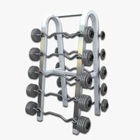 barbells rack 3d max