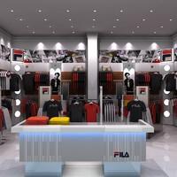 3d sports shop interior