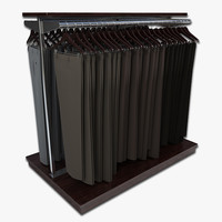 dress pant rack 3d model