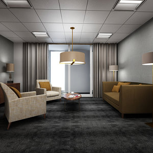 office lounge interior 3d max