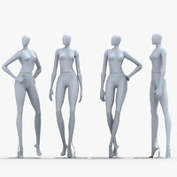 mannequin dummy woman 3d model