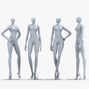 mannequin dummy woman 3d model