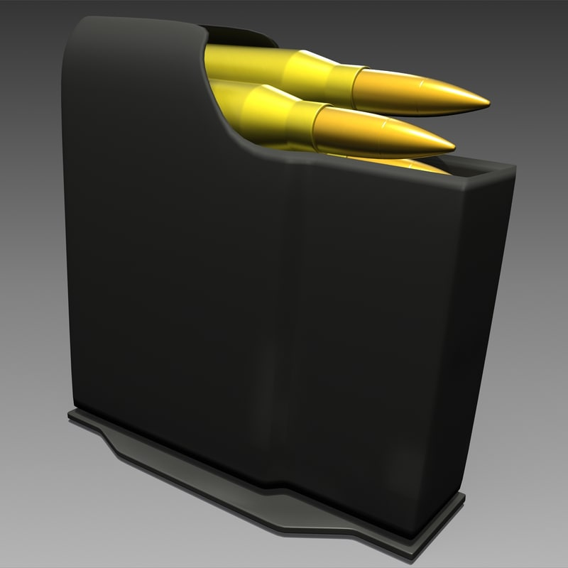 precision rifle magazine 3d 3ds