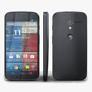 3d model motorola moto x black