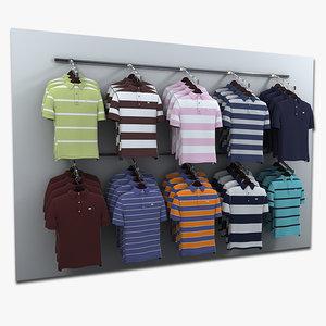 polo shirt wall display 3d model
