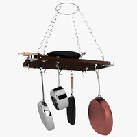 island pot rack obj
