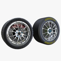 3d car volk tires model