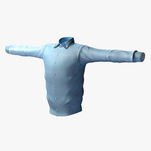 shirt man 3d model