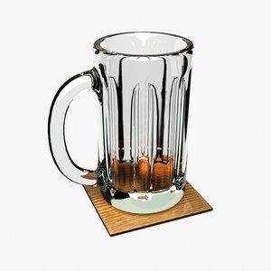 beer mug coaster obj