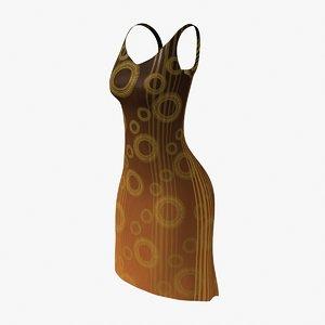60 dress 3d max