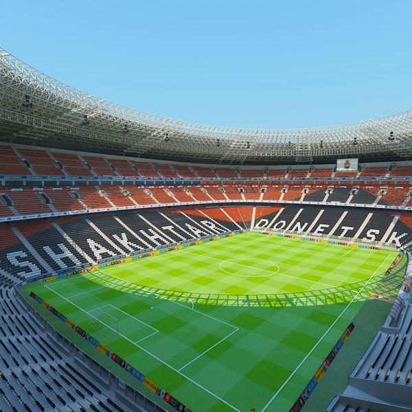 3d donbass arena stadium