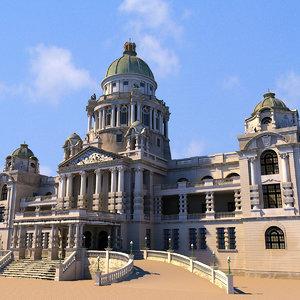 durban city hall 3d model
