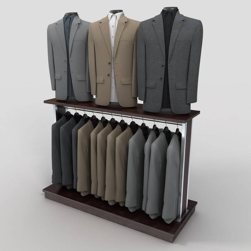 3d model of sport coat rack