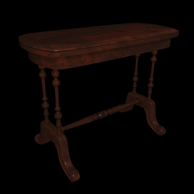 victorian furniture table 3d 3ds