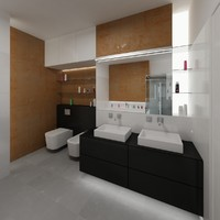 3d model bathroom interior