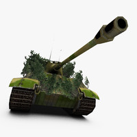 king tiger tank 3d 3ds