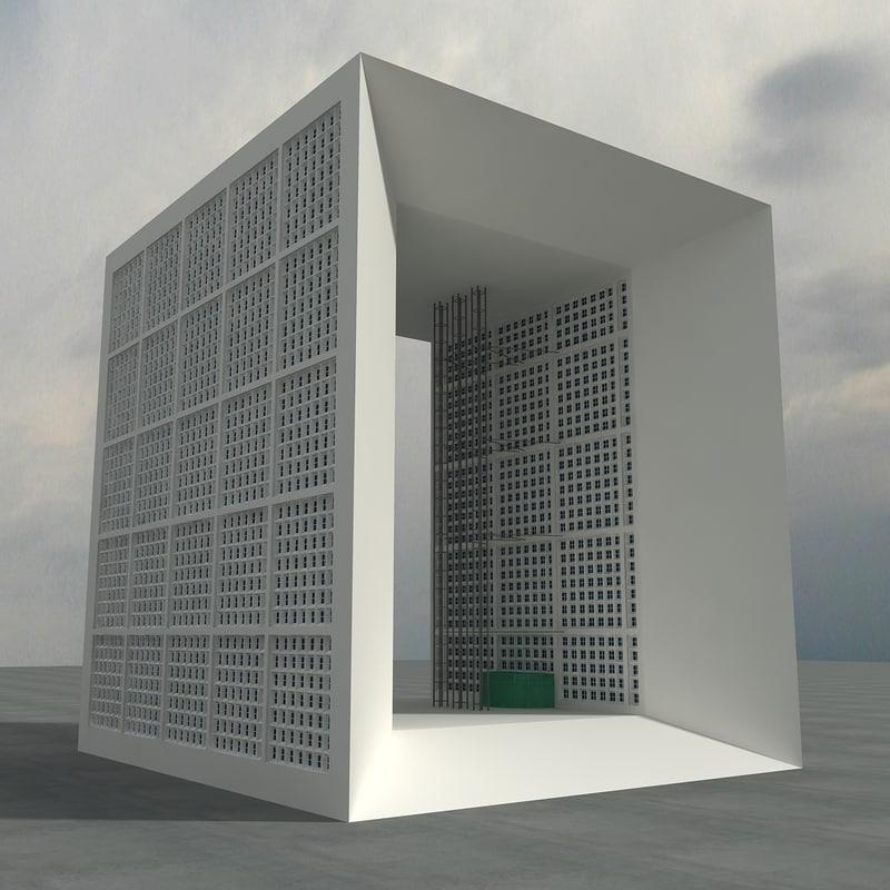 3d model grand arche